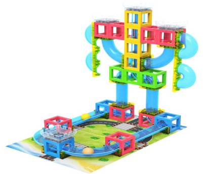 3D Magnetic Building Blocks Set with Runing ball