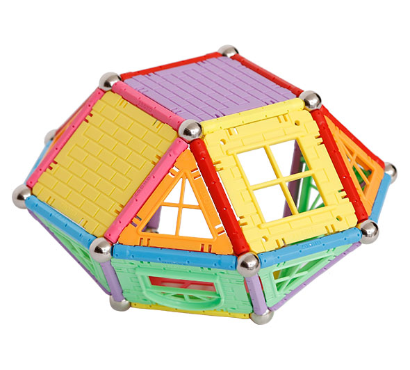 Magnetic Rod Toys Castle Playset Puzzles