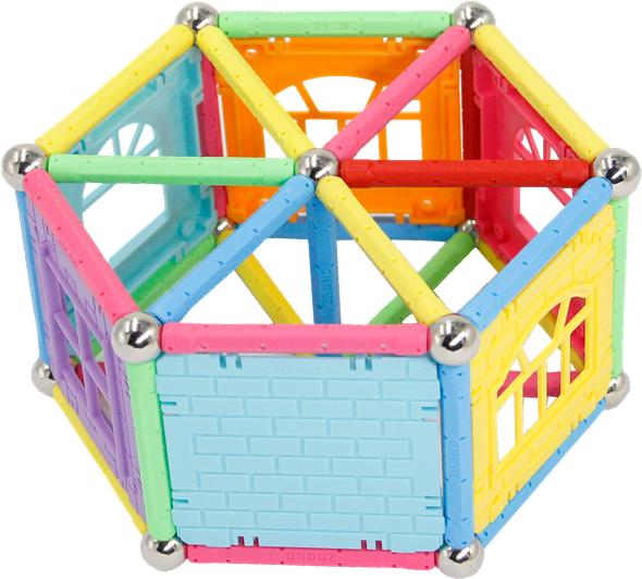 Magnetic Building Balls and Rods Set
