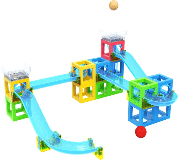 Enhance Imagination Toy Marble Run